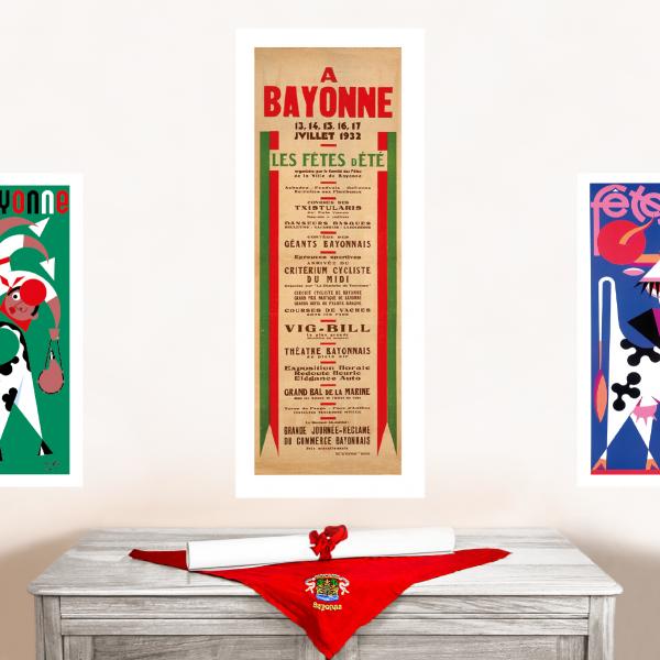 Affiche fêtes de Bayonne1932