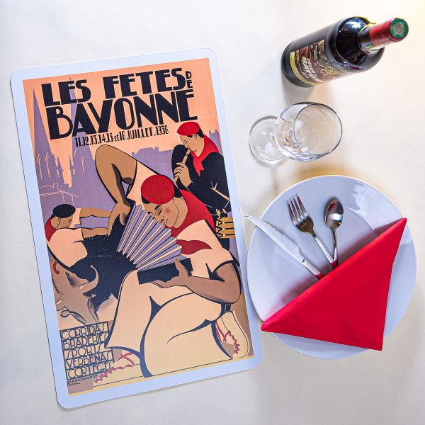 Set de table fêtes Bayonne 1936