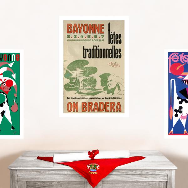 1947 affiche Fêtes de Bayonne