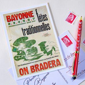 Carte postale Fêtes de Bayonne 1947