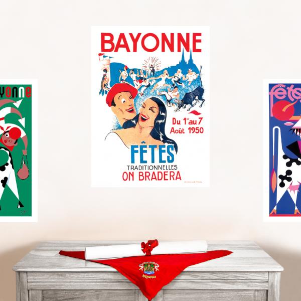 1950 affiche Fêtes de Bayonne