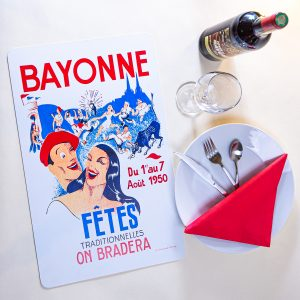 1950 Set de table fêtes de Bayonne