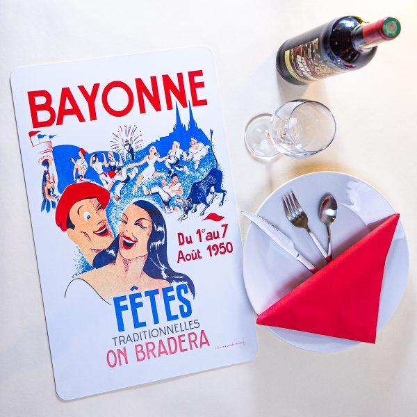 1950 Set de table fêtes de Bayonne