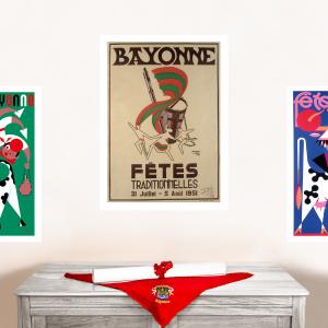 1951 affiche Fêtes de Bayonne