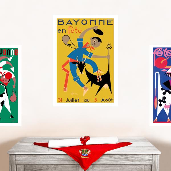 1954 affiche Fêtes de Bayonne