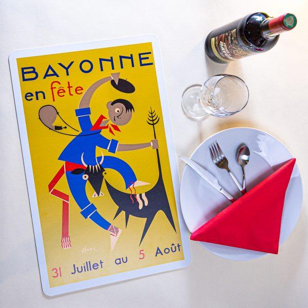 1954 Set de table fêtes de Bayonne