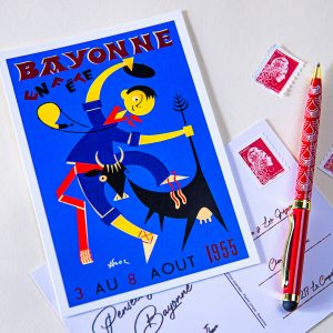Carte postale Fêtes de Bayonne 1955