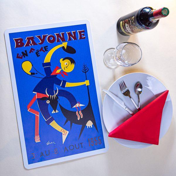 1955 Set de table fêtes de Bayonne