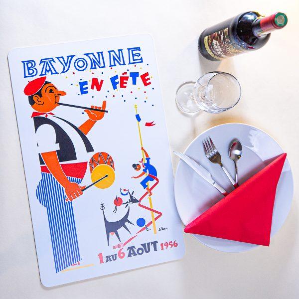 1956 Set de table fêtes de Bayonne