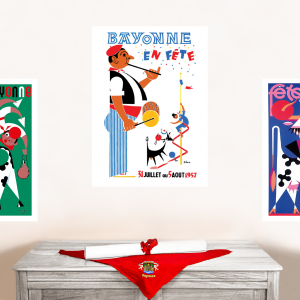 1957 affiche Fêtes de Bayonne