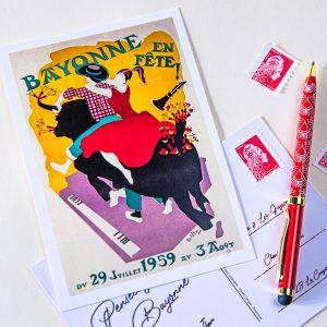 Carte postale Fêtes de Bayonne 1959