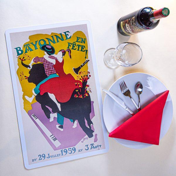 1959 Set de table fêtes de Bayonne