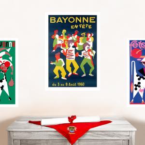 1960 affiche Fêtes de Bayonne