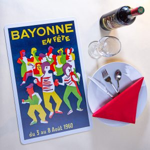 1960 Set de table fêtes de Bayonne