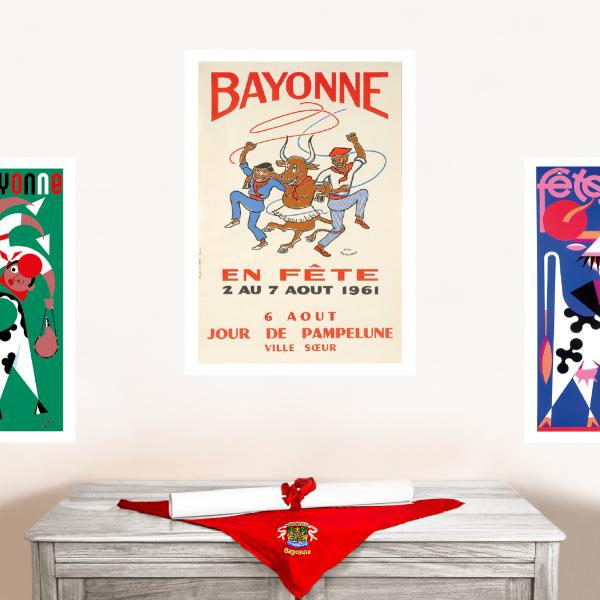 1961 affiche Fêtes de Bayonne
