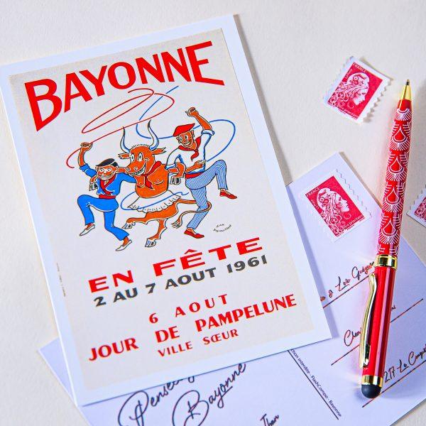 Carte postale Fêtes de Bayonne 1961