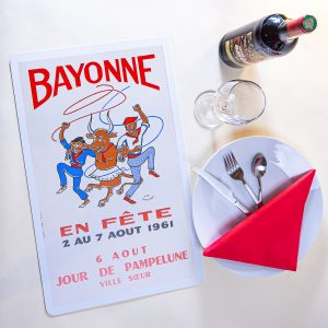 1961 Set de table fêtes de Bayonne