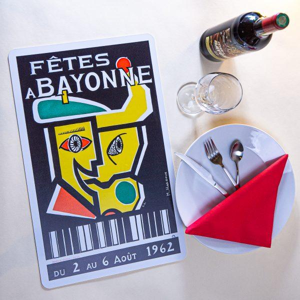 1962 Set de table fêtes de Bayonne