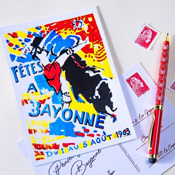 Carte postale Fêtes de Bayonne 1963