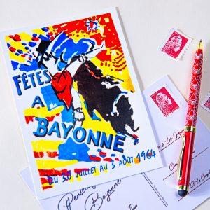 1964 carte postale des fêtes de Bayonne