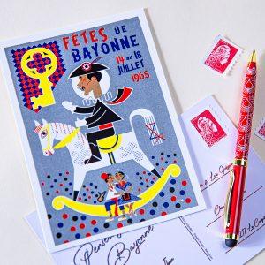 Carte postale Fêtes de Bayonne 1965