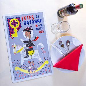 1965 Set de table fêtes de Bayonne
