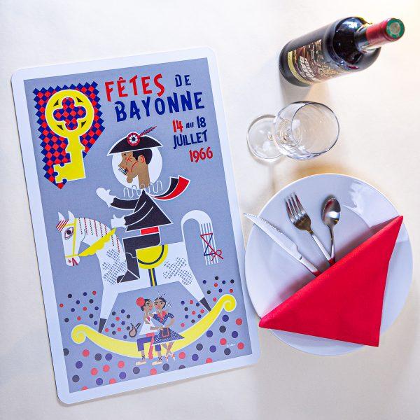 1966 Set de table fêtes de Bayonne