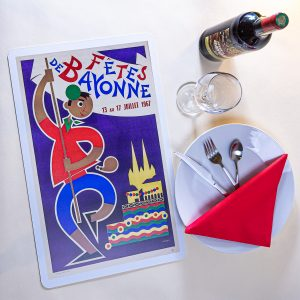 1967 Set de table fêtes de Bayonne