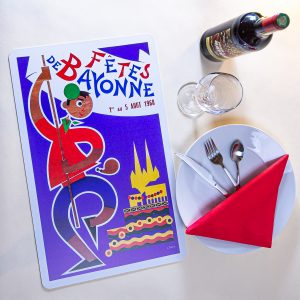 1968 Set de table fêtes de Bayonne