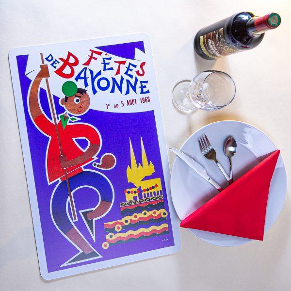 1968 Set de table fêtes de Bayonne