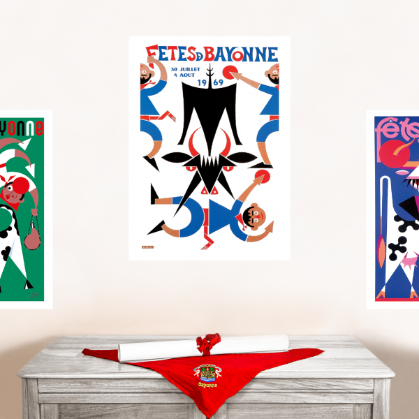1969 affiche Fêtes de Bayonne
