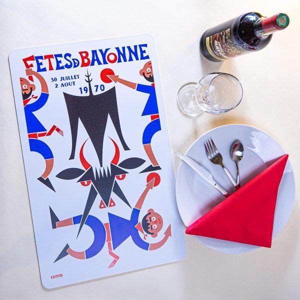1970 Set de table fêtes de Bayonne