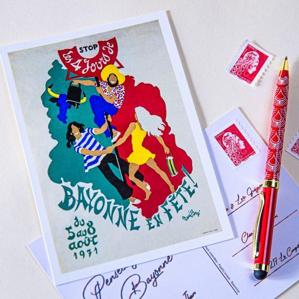Carte postale Fêtes de Bayonne 1971