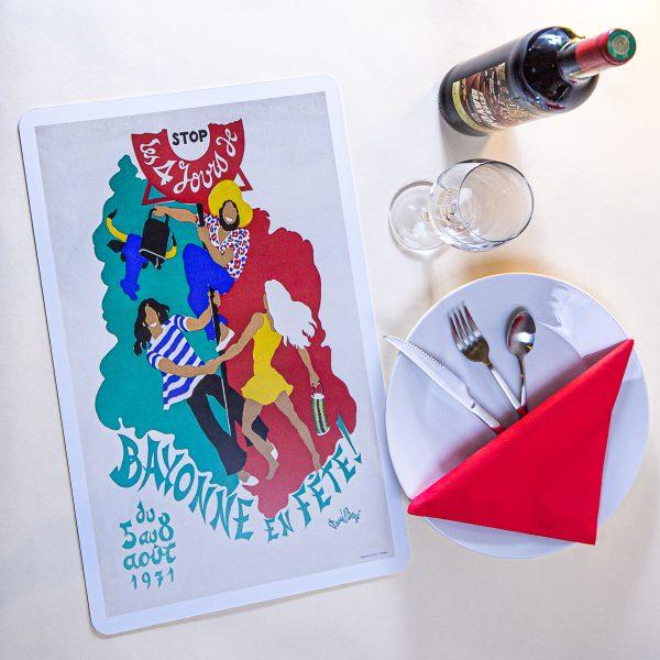 1971 Set de table fêtes de Bayonne