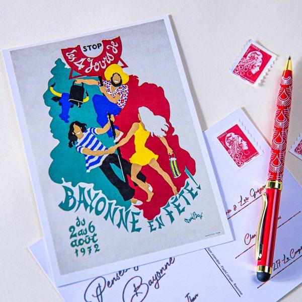 Carte postale Fêtes de Bayonne 1972