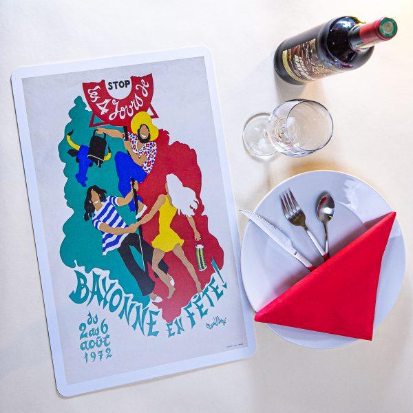 1972 Set de table fêtes de Bayonne