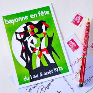 Carte postale Fêtes de Bayonne 1973