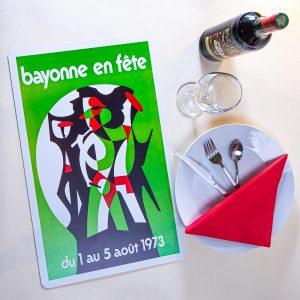 1973 Set de table fêtes de Bayonne