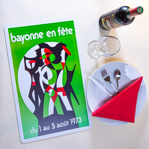 1973 Set de table fêtes de Bayonne