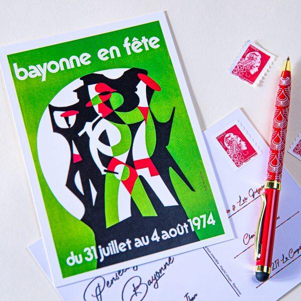 Carte postale Fêtes de Bayonne 1974
