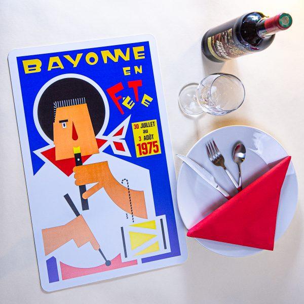1975 Set de table fêtes de Bayonne
