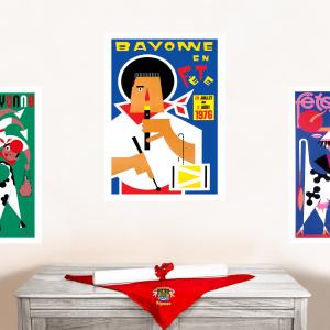 1976 affiche Fêtes de Bayonne