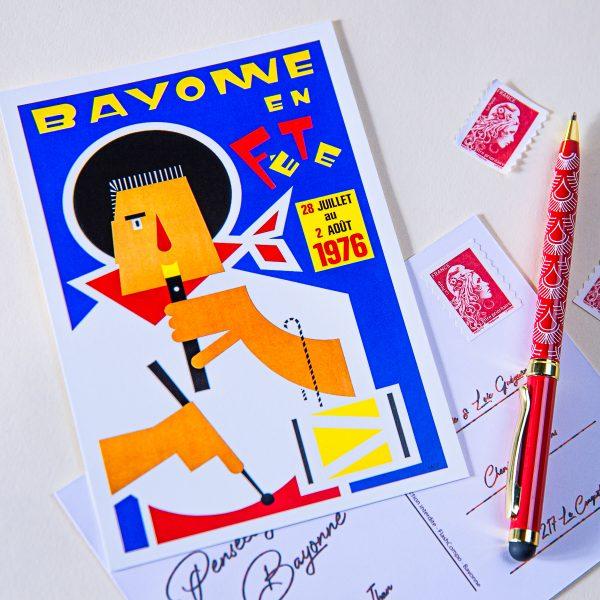 1976 cartes postale des fêtes de Bayonne
