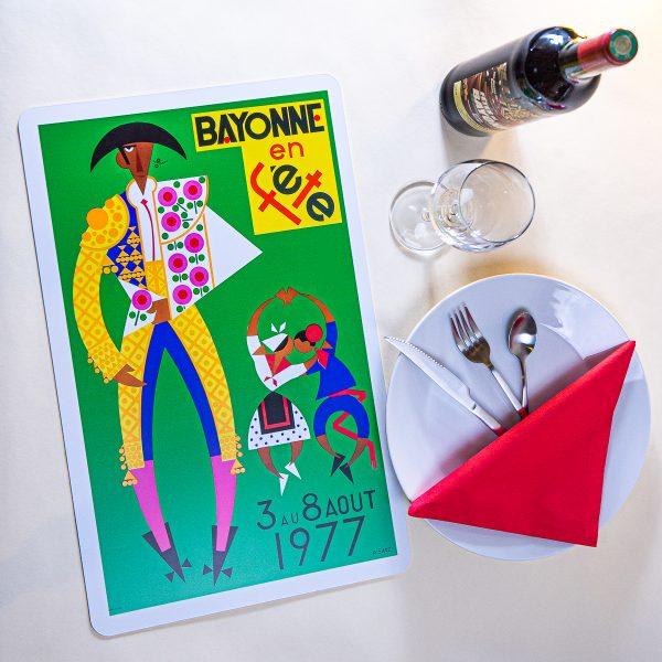 1977 Set de table fêtes de Bayonne