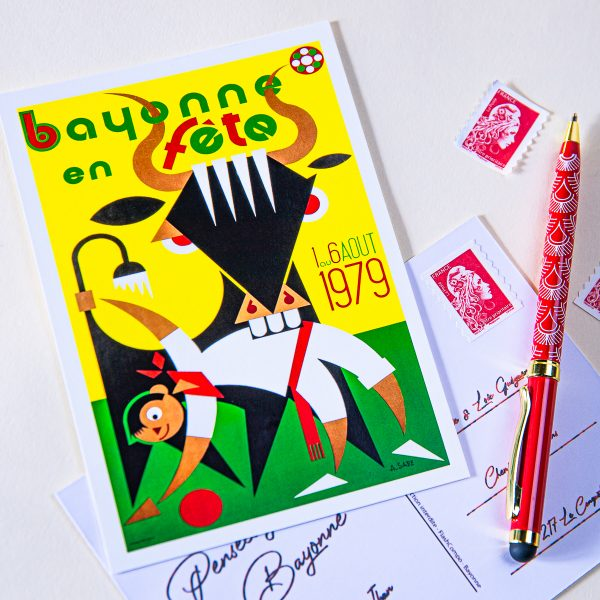 Carte postale Fêtes de Bayonne 1979