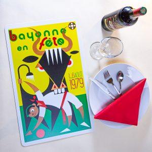 1979 Set de table fêtes de Bayonne