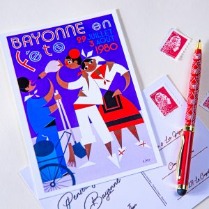 Carte postale Fêtes de Bayonne 1980