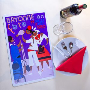 1980 Set de table fêtes de Bayonne