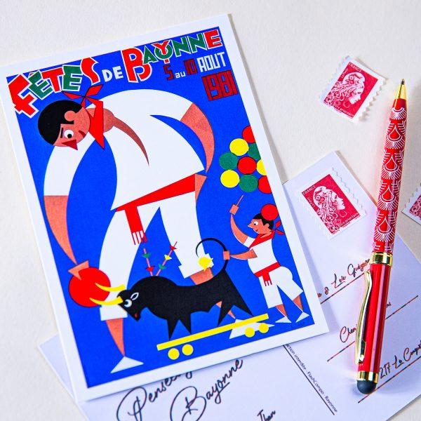 Carte postale Fêtes de Bayonne 1981