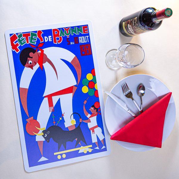 1981 Set de table fêtes de Bayonne
